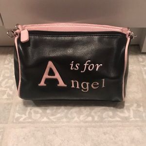 """Handbags - """"A is for Angel"""" Black and Pink Bag"""